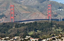 A View of the Golden Gate Bridge from Twin Peaks