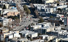 A View of San Francisco's Castro District taken from Twin Peaks.  Photographed using a Canon SX40 HS camera.